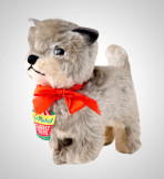 This toy cat was donated by Lesley Hughes, who bought it in 1954 for 9s 11d. It was very popular, featuring twice in the employee magazine.