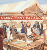 Painting of Penny Bazaar, Van Jones 1955